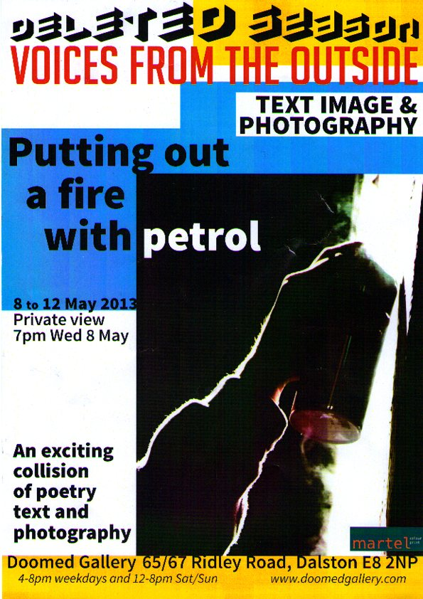 'Putting out a fire' - 8 - 12 May
